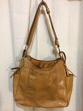 MADISON STUDIO Mustard Leather Medium Handbag Bag Satchel Baguette Shoulder Tote