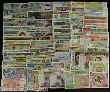 LOT OF 100 DIFFERENT UNC FROM 50 COUNTRIES WITH SOME POLYMER BANK NOTES # L100