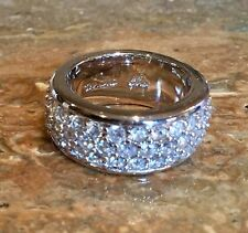 """CIRO COLLECTION"" SIMULATED DIAMOND ETERNITY BAND RING SZ 7 SPECTACULAR!!!"