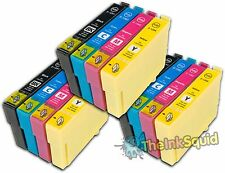 12 T1291-4/T1295 non-OEM APPLE Ink Cartridges for use in Epson Stylus WF3530DTWF
