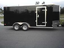 7x16 Enclosed Trailer Cargo V-Nose 18 New Utility 14 Motorcycle 8 Lawn 2016