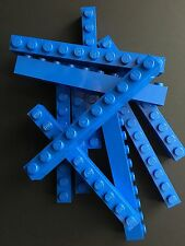 Lego New Lot Of 10 Blue Bricks 1x10 Brick Block 1 X 10 Parts Building House Wall