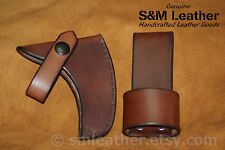 Cold Steel Rifleman's Hawk Tomahawk Brown Leather Sheath Cover & Belt Carry Loop