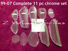 03 2003 HAYABUSA GSXR 1300 CHROME FAIRING TAIL & NOSE GRILLS SCREENS VENTS MESH