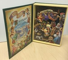 Musical Christmas Nativity Moving Wooden Parts Book Plays Silent Night 27cm