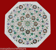"12"" Marble Coffee Table Handmade Pietra dura Inlay Art Home Decor for Gift"