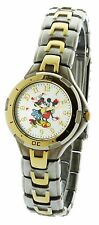 Disney Micky & Minnie Love Watch #MU2049  In Two Tone Routating Disck
