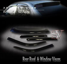 REAR ROOF SPOILER & SUN WINDOW VISORS 5PCS COMBO HONDA CIVIC 92-95 SEDAN