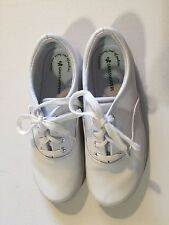 GRASSHOPPERS Women's White Lace Up Leather Oxfords US 5W