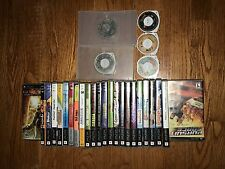 PSP Collection Lot of 29 Games all w/ Original Cases most w/ Manuals!! Free Ship