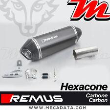 Silencieux échappement Remus Hexacone carbone sans Pare Chaleur BMW R1200RS 2016