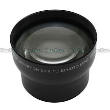 62mm 2.2X Magnification Telephoto Tele Converter Lens for Digital Camera 2.2X 62