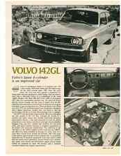 1974 VOLVO 142GL  ~  NICE ORIGINAL 2-PAGE ROAD TEST / ARTICLE / AD
