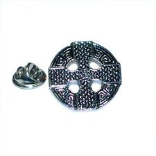 Round Celtic Cross Lapel Pin Badge Shirt Collar Brooch