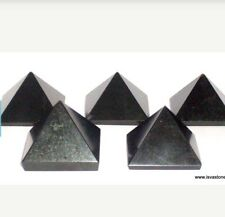 REIKI ENERGY CHARGED BLACK OBSIDIAN PYRAMID CRYSTAL HEALING
