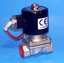 """STAINLESS 1/2"""" ELECTRIC SOLENOID VALVE - 110 VOLT AC ( NORMALLY CLOSED OPERATION"""