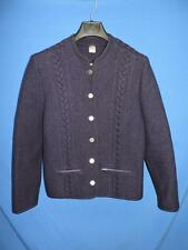 Eduard Kettner Austria M Navy Blue Boiled Wool Jacket Cardigan Coat Button Lady