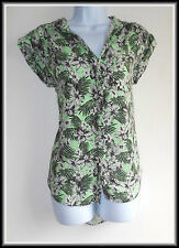 River Island Women's Sleeveless Floral  Shirt Blouse Top size UK 8/10 EUR 36/38