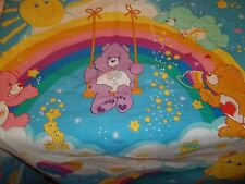 "Handmade Care Bear curtains, 32"" x 39"" long each panel Rainbow Trail"