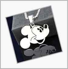 Stainless Steel Mickey Mouse Pendant Necklace