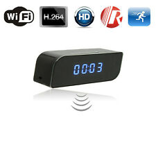 HD 720P Wireless Wifi IP Spy Clock Camera Motion Detect Night Vision Nanny Cam