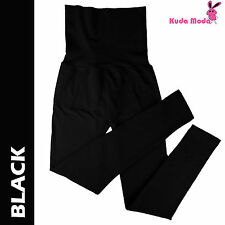 Lady Warm Winter High Waist Fleece Lined Thick Brushed Footless Leggings Pants