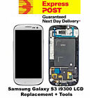 Samsung Galaxy S3 i9300 LCD Digitizer Touch Screen Frame Replacement White +Tool