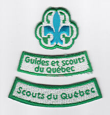 SCOUT OF CANADIAN - ASSOCIATION DES SCOUTS DU CANADA ASC QUEBEC SC GUIDES Patch