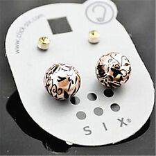 Perla simulada con flores patrones de pendientes de presión