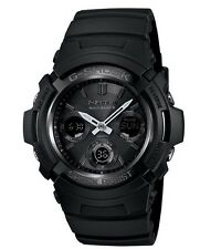 Casio G Shock * AWGM100B-1A Solar Multiband 6 All Black Anadigi COD PayPal