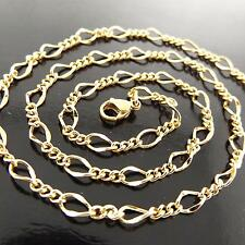 A150 GENUINE REAL 18K YELLOW /F GOLD SOLID FINE LINK PENDANT LONG NECKLACE CHAIN