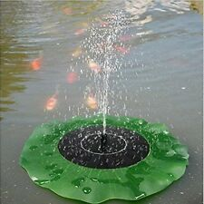 Solar Power Fountain Water Fall Lotus Pump Garden Pond Pool Fish Tank Bird Bath