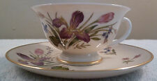 Mid-century vintage Franciscan MARIPOSA multi-color floral cup and saucer