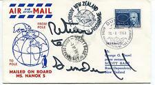 1969 MS Nanok S Scott Base Ross Dependency Polar Antarctic Cover SIGNED