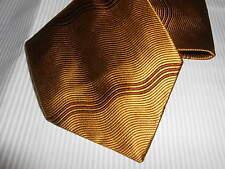 180 K3 Bugatti Designer Krawatte gold braun gemustert  Seide 10 cm breit