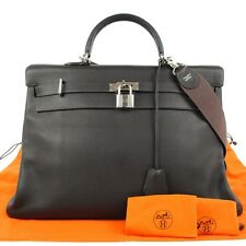 AUTHENTIC HERMES KELLY 50 JUMBO 2WAY HAND BAG BROWN TOGO LEATHER FRANCE B22440