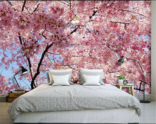 Pink Sakura Flowers Mural Wallpaper Wall covering Photo Wall 82.7X55.5'' BZ744