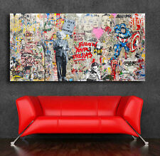 Mr. Brainwash Grafitti art Einstein Mural  36 x 20 Canvas Print Giclee