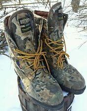 MENS GUIDE GEAR AQUA PLUS CAMO ADVANTAGE THINSULATE CAMOUFLAGE HUNTING BOOTS 11
