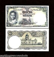 THAILAND 1 BAHT P74c 1955 KING BHUMIBOL UNC RARE SIGN 35 CURRENCY MONEY BANKNOTE