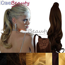 Clip in Ponytail Wrap Around Ponytail Hair Extensions - Straight & Wavy Hair