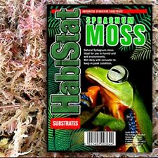 HabiStat Reptile Sphagnum Moss Live Moss Shedding Aid Gecko Snake Breeding