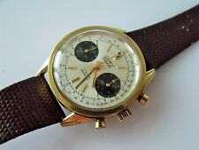 GENT'S VINTAGE GOLD PLATED CAMY GENEVA CHRONOGRAPH WRIST WATCH