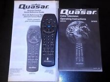 Panasonic Quasar Remote Control EUR511514-Quick Reference Guide+TV Instructions