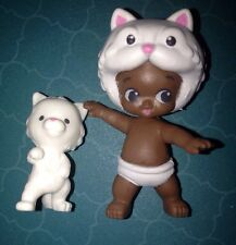 TWOZIES SEASON 2~RARE Boy WHITE CAT Baby CLAUDE & KITTY Pet CLYDE