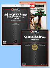 BCW: Magazine Bags + Acid-Free Boards Combo: 200each *Ships FREE in USA