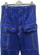 Vintage Rare Issey Miyake Combat Cargo Pants Blue Trousers Japanese Spaceman