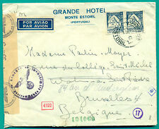 1942 PORTUGAL ESTORIL - OKW ZENSUR - BRUXELLES BELGIE AIRMAIL COVER