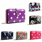 Ladies Designer Butterfly Polka Dot Flower Horse Compact Purse Clutch Wallet