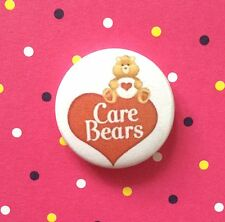 1 Inch Care Bear Vintage Heart Logo on a  button pin badge Valentines day